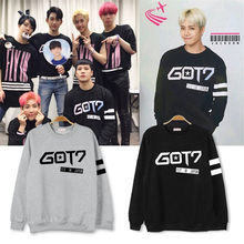 k-pop KPOP Thin Hoodies Of GOT7 FLY IN JAPAN 2016 K-POP Classic Solid Cotton Coat Long Sleeve Outwear Sweatshirts JCF245(China)