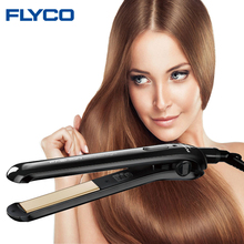 Flyco Professional ceramic electric hair iron Straightening Iron hair straightener flat Styling hair Tools Dry and Wet  FH6812