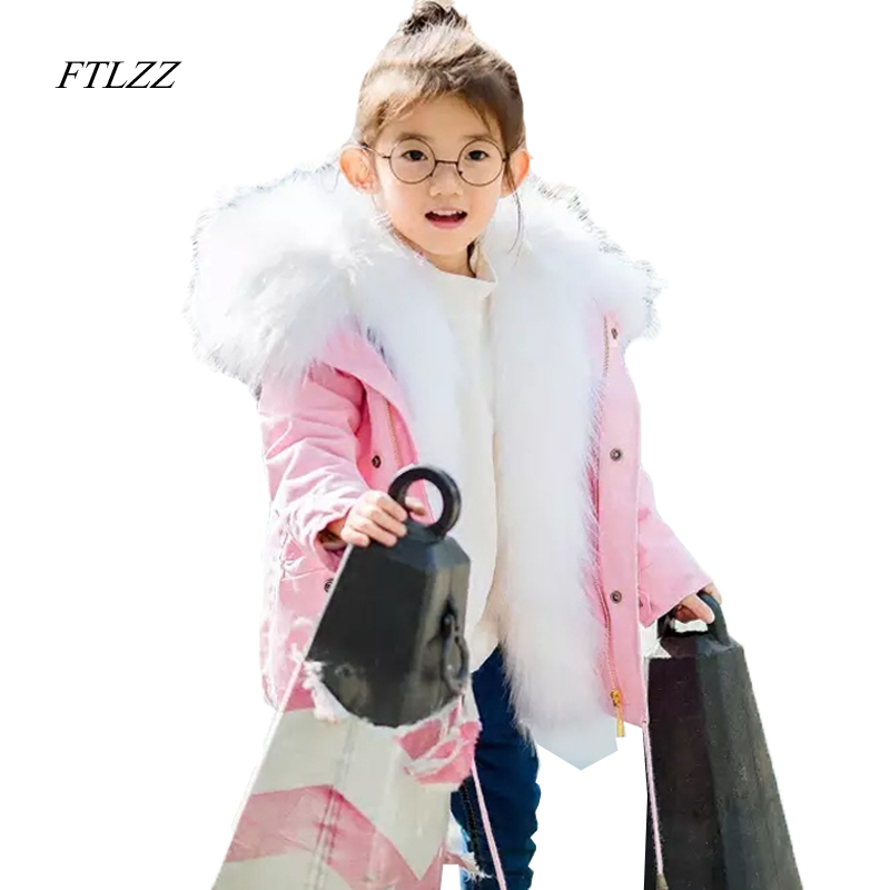 Baby Girls Boy Winter Coat Faux Fox Fur Liner Detachable Jackets Toddlers Children's Outerwear Baby Girl Thicken Warm Parkas пилочка для ногтей leslie store 10 4sides 10pcs lot