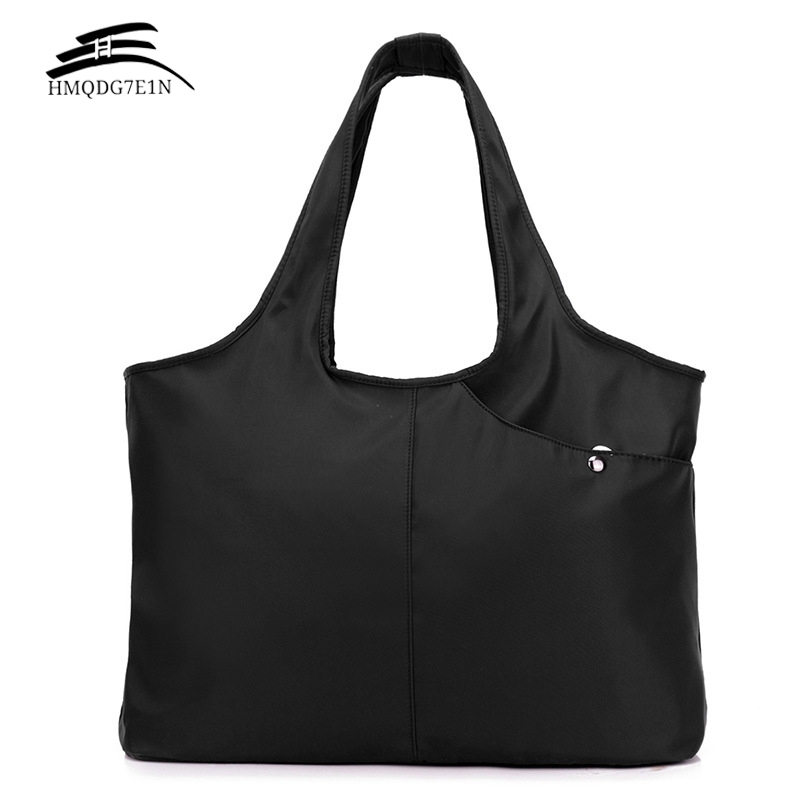 Fashion Waterproof Women Handbag Casual Large Shoulder Bag Nylon Big Capacity Tote Luxury Brand Design Shopping  Bags bolsas rivet bag for women casual large capacity tote handbag horizontal vertical type useful shopping bag necessity sac bolsas new2015