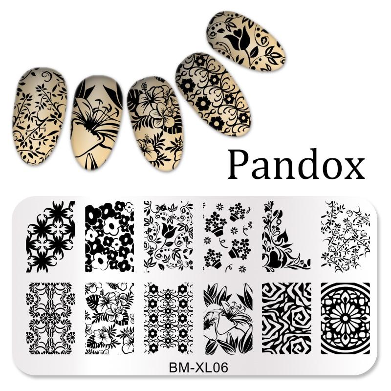 2016 New Series Bm Nail Stamping Plates Diy Image Konad Nail Art