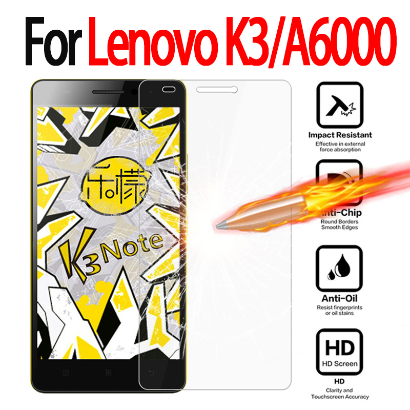 Tempered Glass For Lenovo K3 K 3 Lemon K30-T Templado Screen Protector For Lenovo A 6000 / A6000 Plus A6010 Plus Pro film case