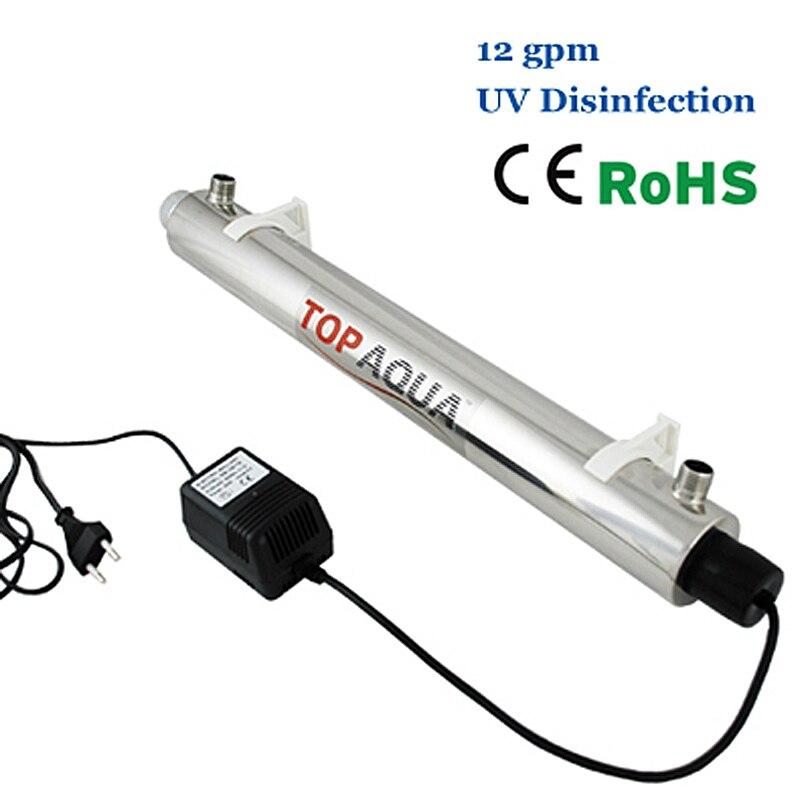 Coronwater SS304 12 GPM Stérilisateur UV Système De Désinfection CE, RoHS pour la Purification De L'eau SEV-5925L