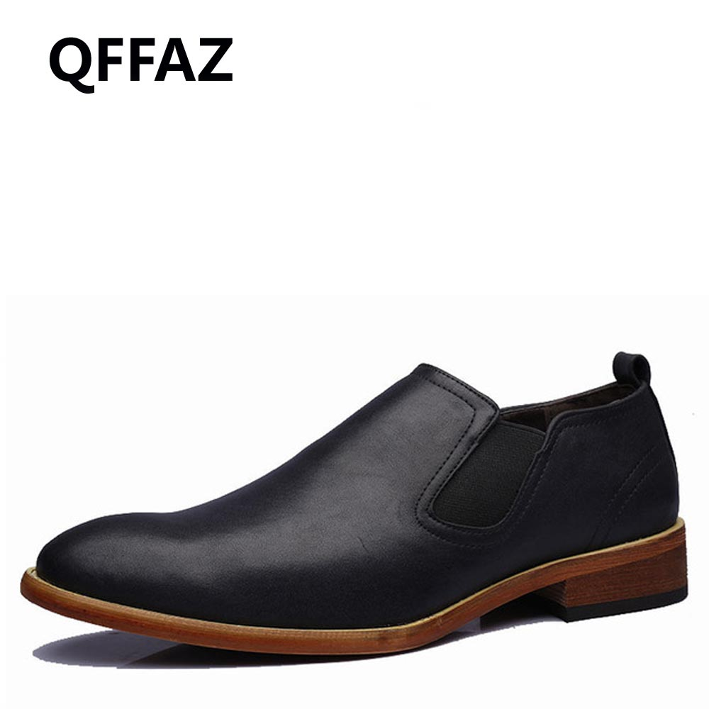 QFFAZ 2018 Men Loafers Genuine Leather Casual Shoes Men Flats Oxford Shoes For Men Driving Shoes Pointed Toe Men Shoes fashion baby jumpsuit winter rompers hooded children winter jumpsuit duck down baby girl rompers infant boy snowsuit overalls