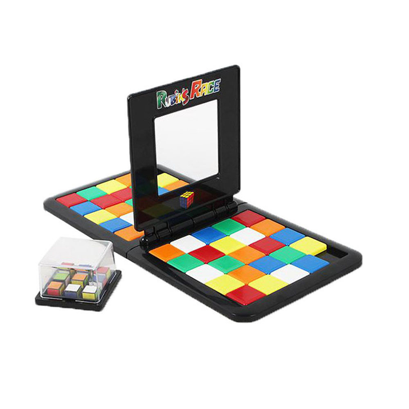 Rubiks Race Board Game Parent-child Slide Double Game Cube Puzzle Funny Family Party Magic Cubes Toys Puzzles For Children Adult
