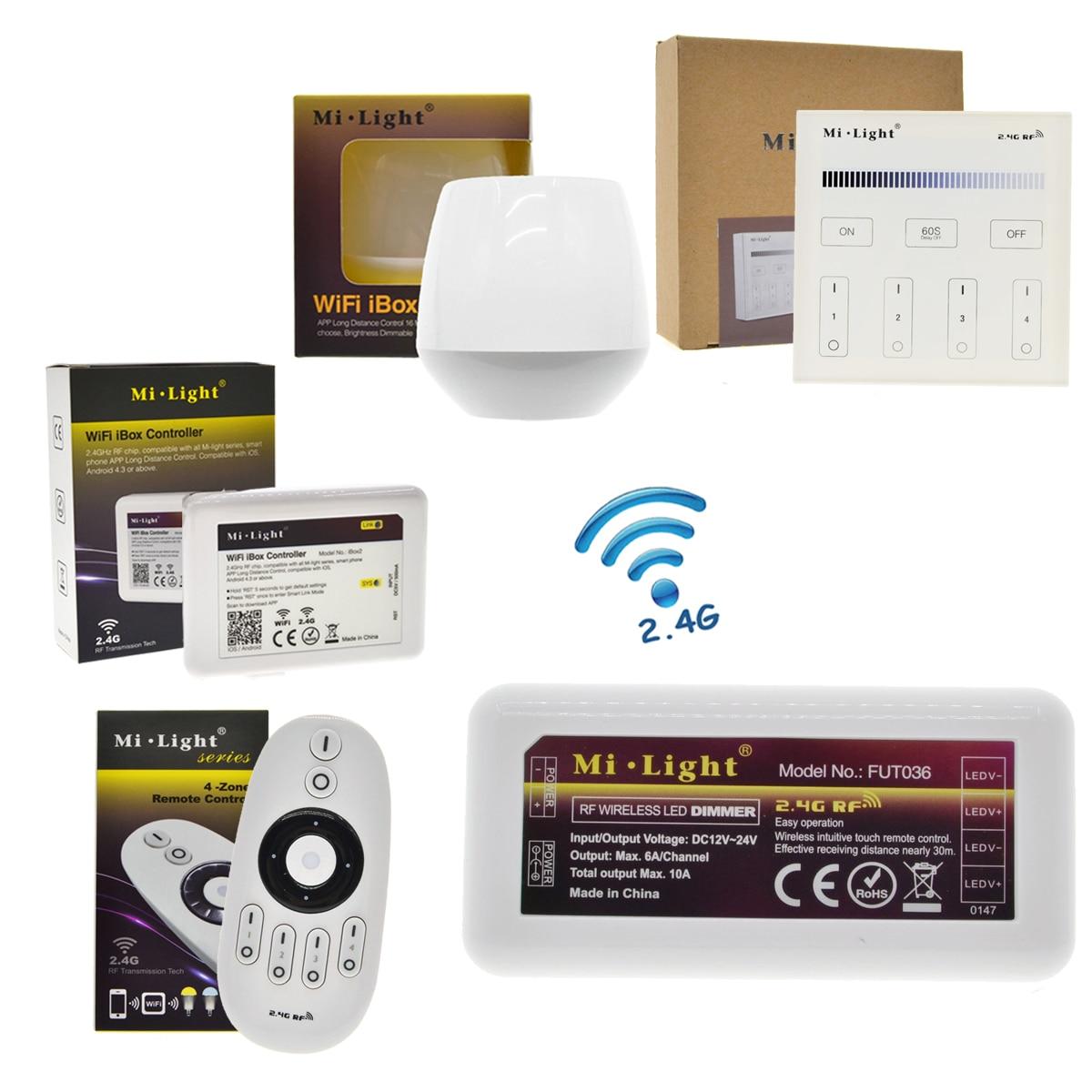 Mi Light Remote Control Dimmer DC12-24V Brightness Adjustment For LED Strip