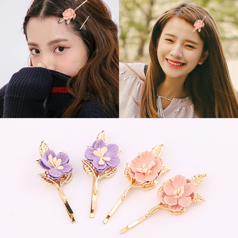 Sale 1PC Flowers hair Pin Korean Sweet Girls Hair Clip For Women Accessories