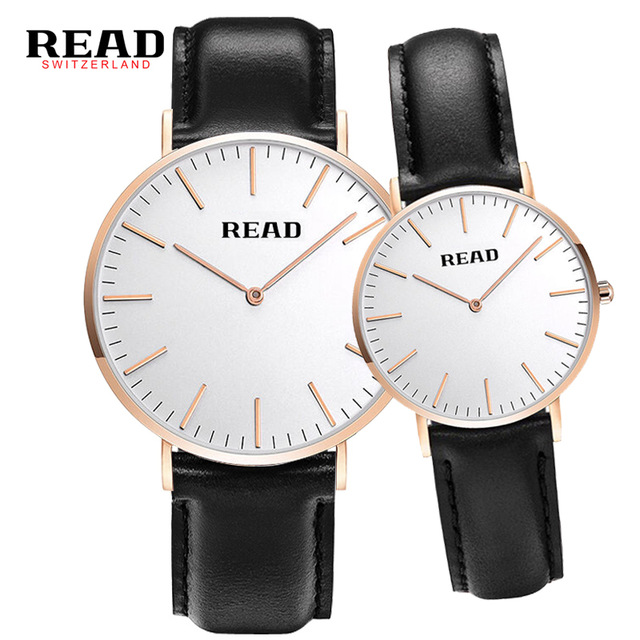 READ lovers watches simple couple watches ultra-thin quartz watch R2020