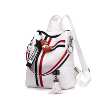 Ladies bag new retro fashion zipper ribbon pendant explosion models PU leather high quality dual-use shoulder Mummy