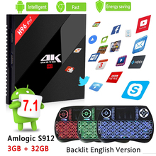 S912 H96 Pro + TV Box Amlogic 3 GB 32 GB Octa Core Android 7.1 OS BT 4.1 2.4 GHz + 5.0 GHz WiFi Mini PC Media Player Smart Set Top Box