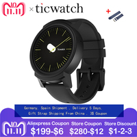 GiftStrap Ticwatch E Expres Смарт часы Android Wear OS MT2601 двухъядерный IP67 Водонепроницаемый Bluetooth 4,1 WI FI gps Smartwatch телефон