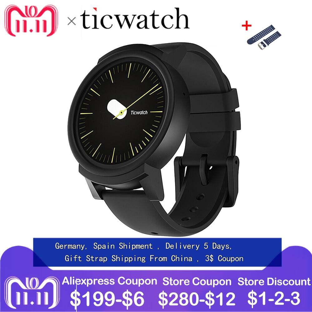 GiftStrap Ticwatch E Expres Montre Smart Watch Android Wear OS MT2601 Dual Core IP67 Étanche Bluetooth 4.1 WIFI GPS Smartwatch Téléphone