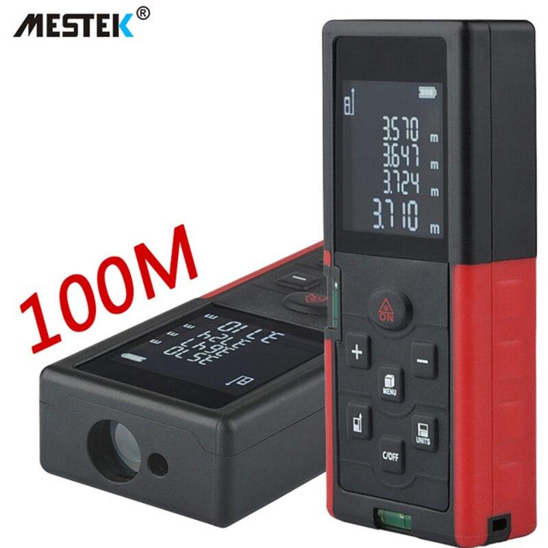 MESTEK Range Finder 40m 60m 100m Laser Distance Meter Rangefinder Medidor Trena Laser Level Tape Measure Laser Meter Ruler
