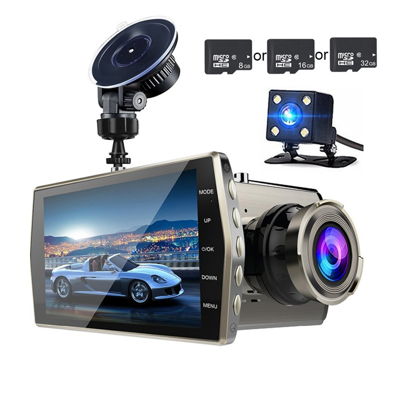 TOSPRA Driving-Recorder Video-Camera Dashboard Cycle-Recording 1080 Front Rear Auto Full-Hd