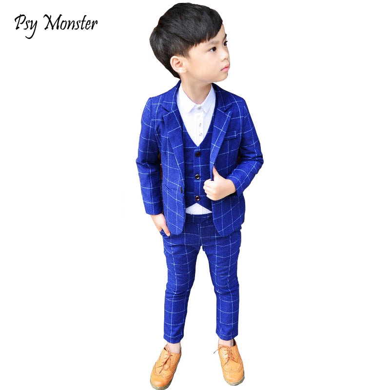 New Kids Plaid Wedding Blazer Prom Suit Brand Flower Boys Formal Tuxedos School Suit Child Party Dress 3Pcs Clothing Set CostumeNew Kids Plaid Wedding Blazer Prom Suit Brand Flower Boys Formal Tuxedos School Suit Child Party Dress 3Pcs Clothing Set Costume