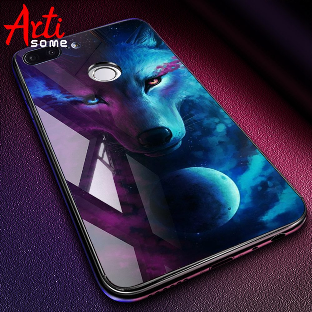 low priced b6801 72c8c Tempered Glass Case For Xiaomi Redmi Note 5 5 Pro 5 Plus Note 4X Case  Luxury Animal Pattern Case For Xiaomi Mi 8 A1 5X Coque