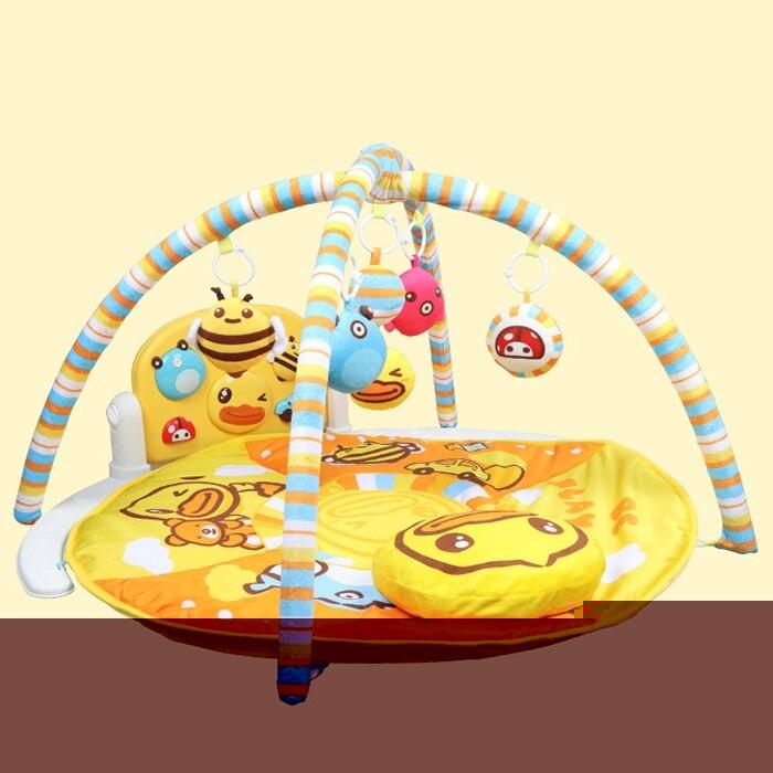 Del Bambino Musica Per Pianoforte Tappeti Per Giochi Di Wl-bd042 Pedale Musica Di Fitness Del Basamento Doppio Anello Cornice Di Fitness Musicale Letto Campana Gioco Palestra Giocattolo Bambini