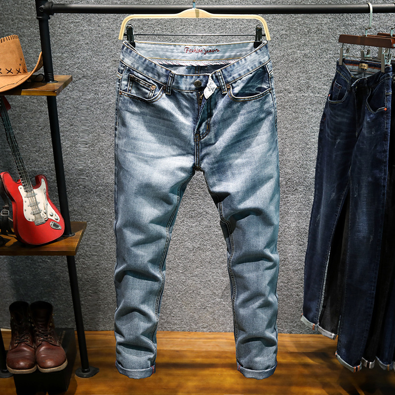 HO 2018 men jeans casual and comfortable stretch of cultivate ones morality small straight young fashionable pants ...