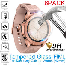 6Pack 2.5D Tempered Glass Screen Protector Full Cover Film For Samsung Galaxy Watch 42mm Glas Easy to Install Explosion Proof(China)