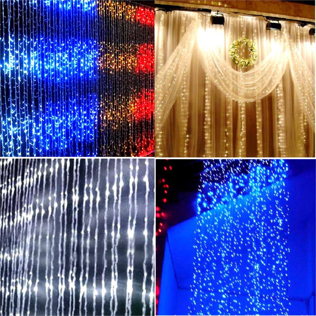 Best Latest Technology 400LED Water Flow Waterfall String Fairy Lights For Xmas Party Decoration 2M*2M