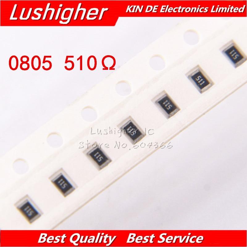 100PCS 0805 SMD Resistor 5% 510R Ohm 511 510ohm
