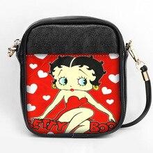 Nowe mody Betty Boop torba typu Sling niestandardowe kobiety torba na ramię typu Sling skóra Mini dziewczyny Tote torebka imprezowa DIY torba typu Sling
