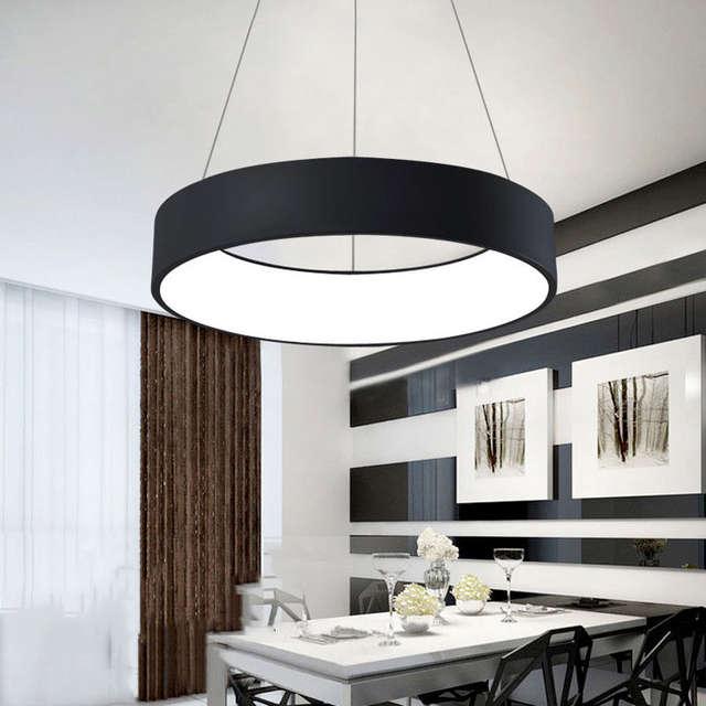 Placeholder 600mm 36W Modern Fashion Circle Hanging Lamp Dining Room Living Pendant Bedroom Suspend Light