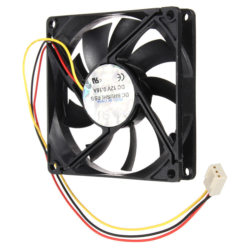 12V 1800rpm 3 Pin PC CPU Cooling Fan Heatsinks CPU Radiator Computer Case Fan For Desktop 80mmx80mmx15mm hot 1 2 3 way 220v wireless remote control switch 190v 240v on off switches transmitter receiver module relay for lamp light