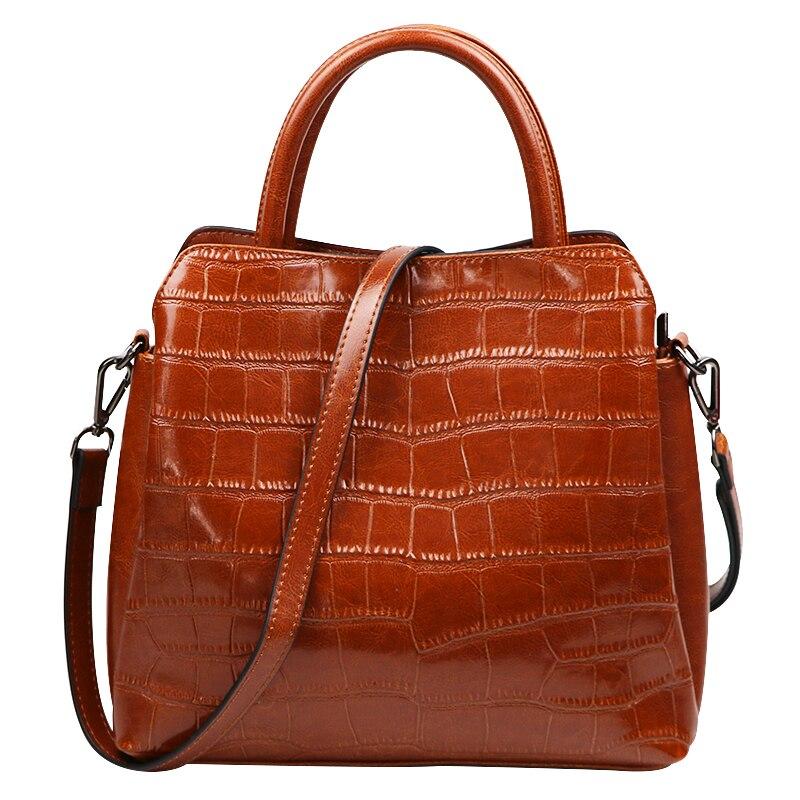 Alligator kobiet z prawdziwej skóry krokodyla luksusowe torebki na ramię kobiety Top torby z uchwytami projektant Bolsos Mujer torba neutralny w Torby z uchwytem od Bagaże i torby na  Grupa 1