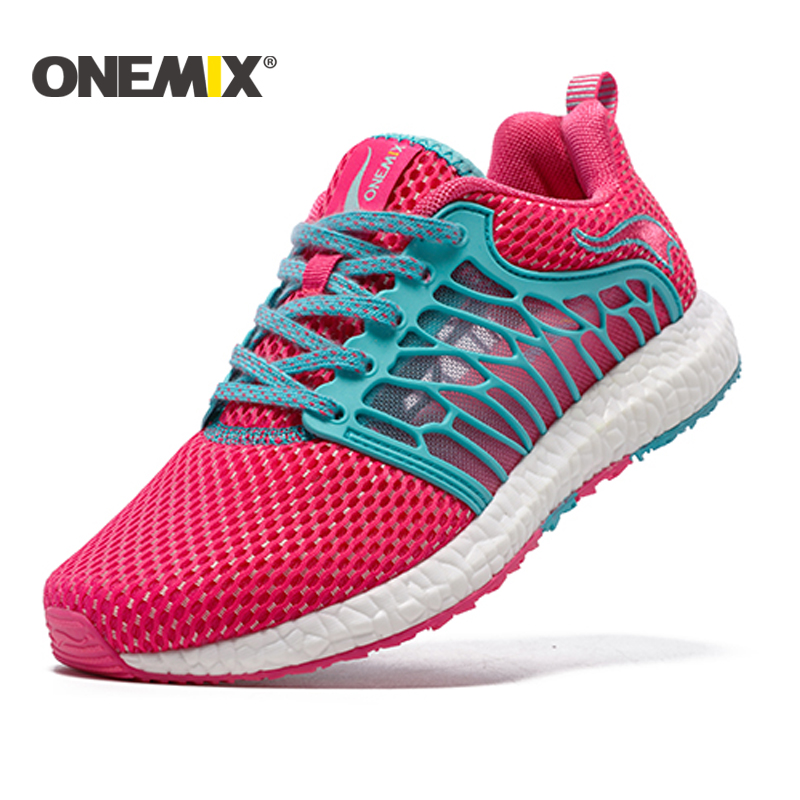 ONEMIX 2018 Kasut Dewasa Athletic Trainer Women Running Shoes bernafas Summer Lady Walking Sport Sneakers Shippng Percuma