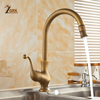 ZGRK Bathroom Faucet antique brass water tap Kitchen Single Hole Handle Swivel 360 Design Mixer Taps Basin Sink tap