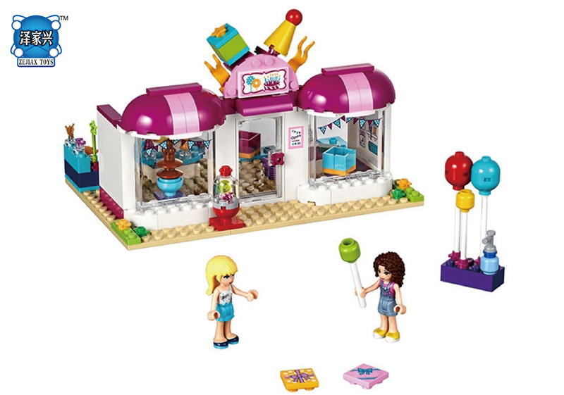 Friends Heartlake party shop sy838 Building Block bricks Stephanie laurie Girls Educational Toys 41132 Compatible with Lepins