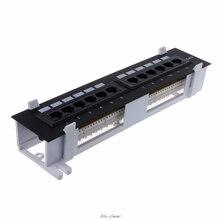 12 портов Ethernet LAN Сетевой адаптер CAT6 Патч-панель RJ45 сетевой настенный кронштейн для монтажа в стойку сетевые инструменты