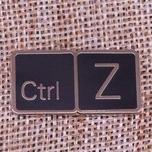 Ctrl Z Lapel Pin Geek gift Keyboard Badge