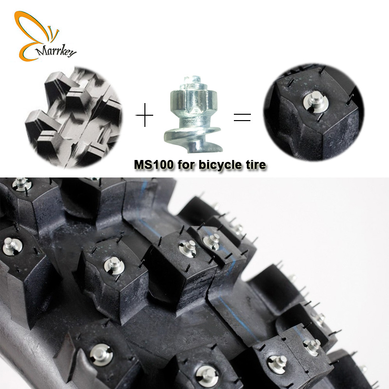 Marrkey 50PCS MS100 6 8 5mm Tires Studs Screw in Spikes Spikes for Tire Ice Spickes