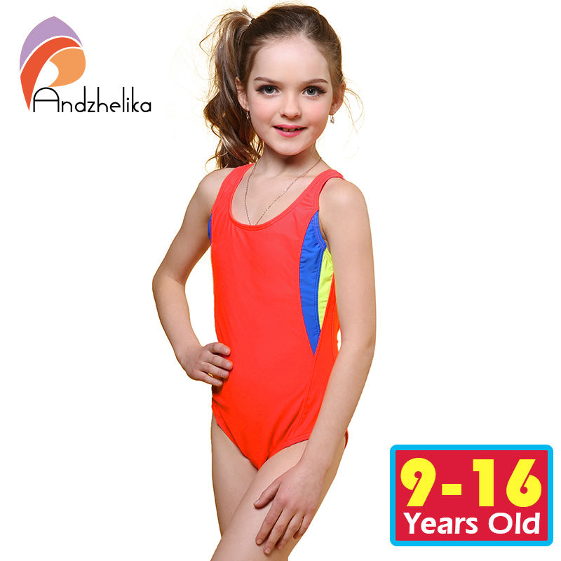 Andzhelika One Piece Swimsuit 2018  Swimsuit for girl Swimwear Children Summer Girl Sport Bodysuit Bathing Suit Child Swim Suit