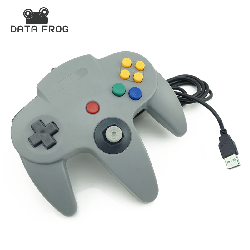 Wired USB Game Controller Gaming Joypad Joystick USB Gamepad For Nintendo For Gamecube For N64 64 PC For Mac Black Gamepad dilong pu303 usb wired pc game pad shocks joystick black blue 168cm cable