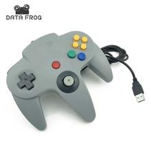 Проводной USB игровой контроллер игровых джойстика джойстик usb геймпад для Nintendo для GameCube для N64 64 шт. для Mac черный геймпад