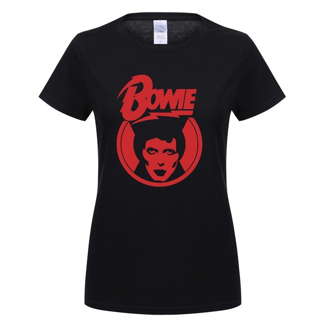 Courtes Bowie À Femmes D'été Bowie shirt Rock T David Ziggy Manches pw04qzHyy