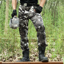 Camouflage Pants Military Cargo Pants Men Army Work Pantalon
