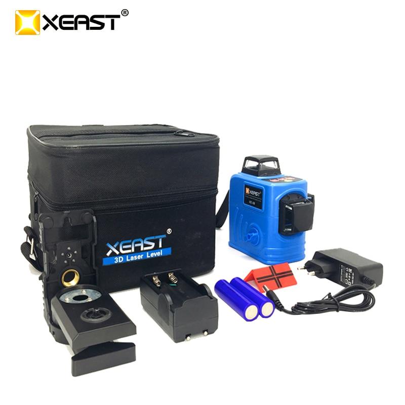 XEAST XE-68 12 линий 3D лазерный уровень самонивелирующийся 360 градусов горизонтальный и вертикальный крест мощный открытый может использовать де...