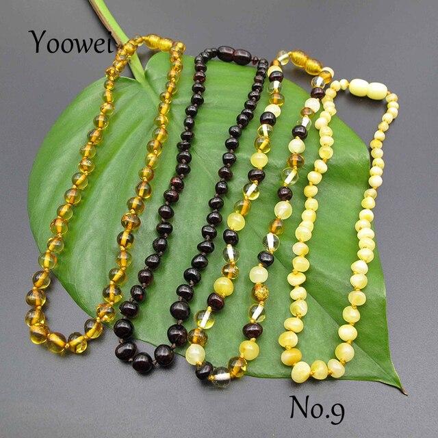 Yoowei collar barroca de ámbar para mujer, cuentas naturales de ámbar del mar baltico, estilos únicos de fábrica, joyería ámbar Original, venta al por mayor