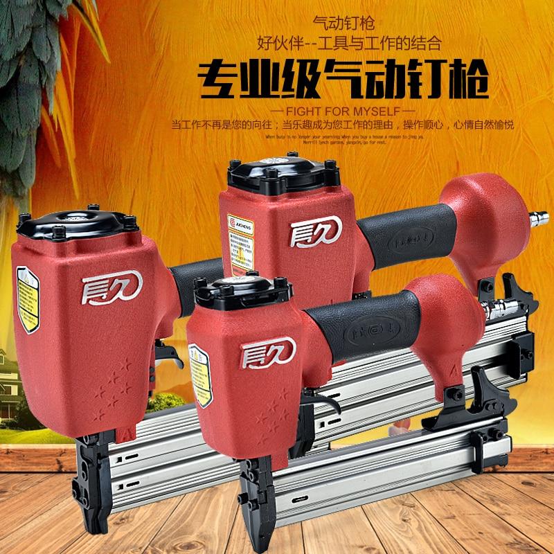 цена на Long woodworking non-staples F30 straight nail 1022 yards nail gun T50B straight nail gun 64 nail gun pneumatic