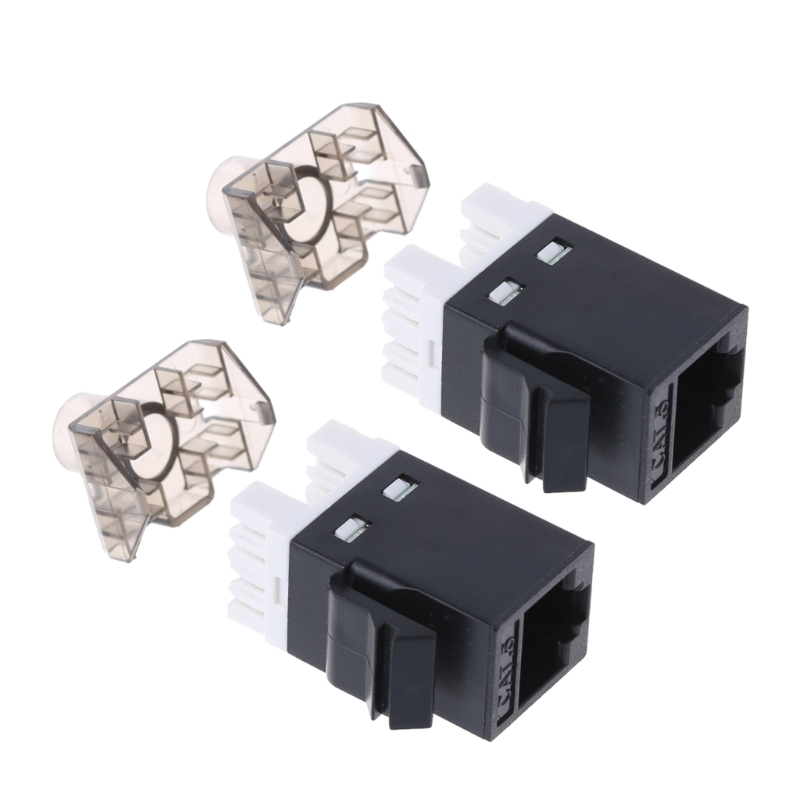 New 2Pcs UTP CAT6 Network Module RJ45 Connector Cable Adapter Keystone Jack Hot