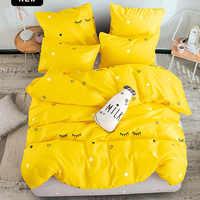 Alanna impresso conjuntos de cama sólida casa conjunto 4-7 pçs alta qualidade adorável padrão com estrela árvore flor