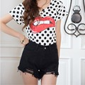 Hot Women Summer High Waist Tassel Hole Short Jeans Denim Slim Shorts 2015 New Arrival