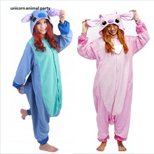 Kigurumi Onesies Pink cartoon characters cosplay role playing pajamas pink jumpsuit Halloween Christmas Party Costumes