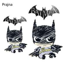 Prajna Punk Batman Patch Backpack For Kids Thermal Transfer Patch For Clothing iron On Badges Patch Lot Vest Sticker Decor A(China)
