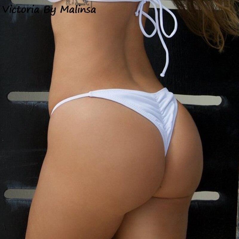 Women Sexy Plus Size White Panties Bikini Bottom Female Perspective Secret  Low Waist Thongs Nightwear Ruffles Short Pants