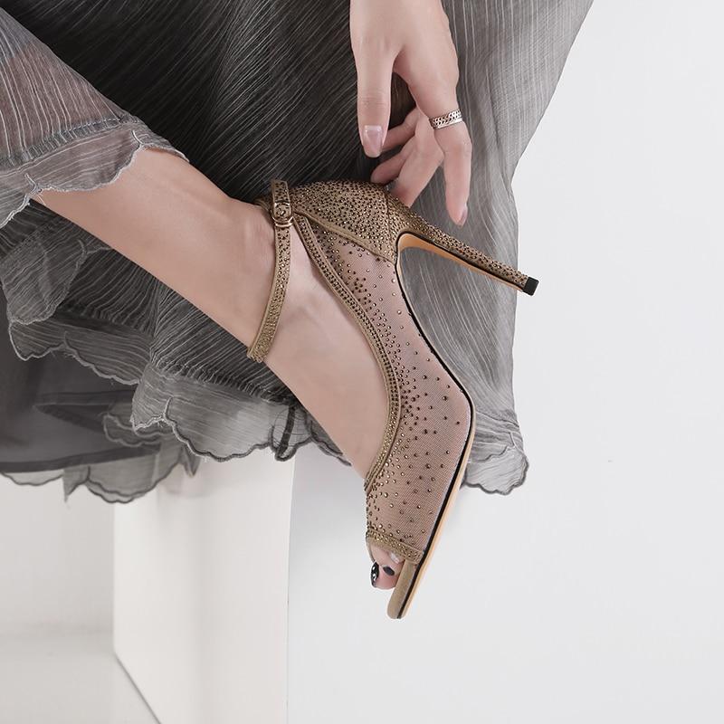 Toe Pink Strass De Peep Partie Mstacchi Mariage Hauts Sangle Sexy À Boucle Mode 2019 Glitter Chaussures Femmes Talons D'été QderxoWCB